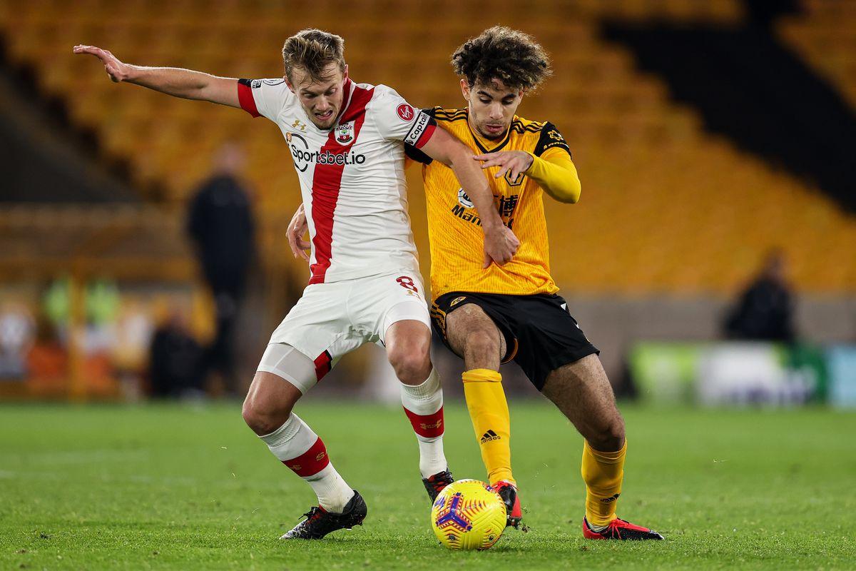 James Ward-Prowse of Southampton and Rayan Ait-Nouri of Wolverhampton Wanderers (AMA)