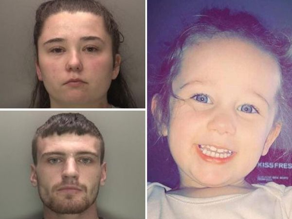 Kaylee-Jayde Priest, right, was killed by her mother Nicola Priest and Callum Redfern, left