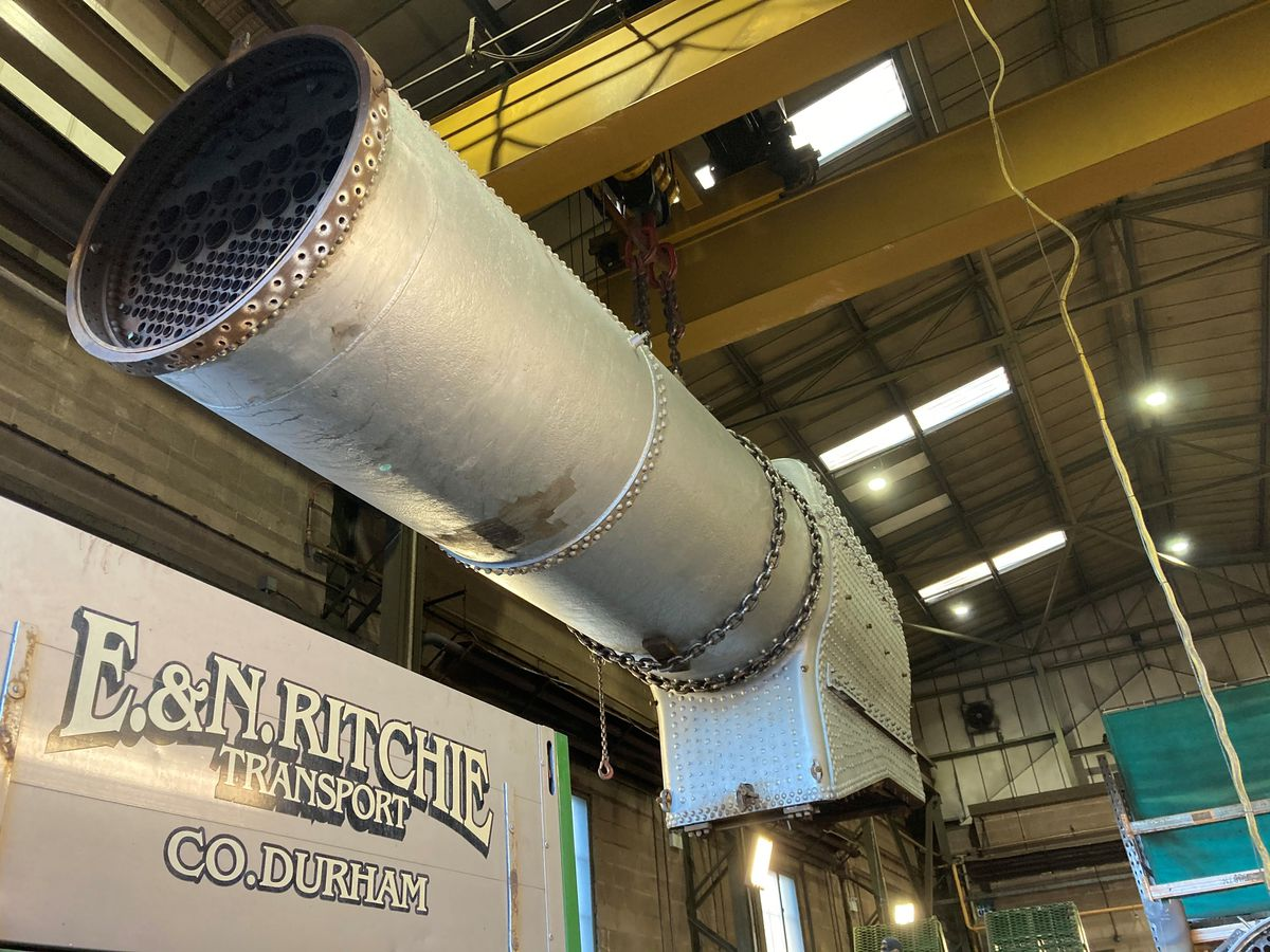 After decades of work the boiler will soon be ready to be used again. Photo: Lesley Carr