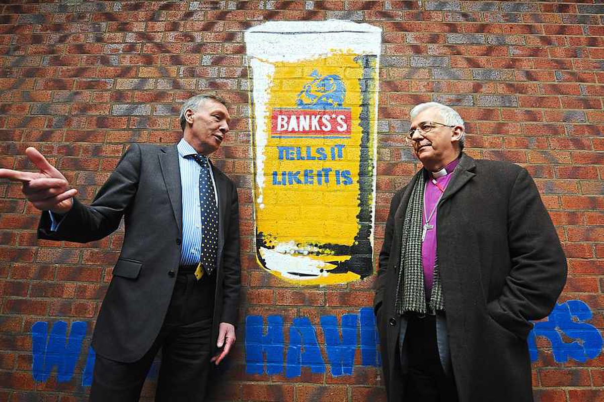 Take a tour around Marston's and Banks's Brewery with the Bishop of Lichfield