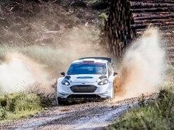 Riding shotgun in a Ford Fiesta WRC car