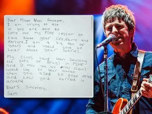 Noel Gallagher and the letter he received from Sam Fisher