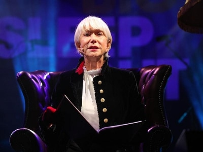 Dame Helen Mirren reads bedtime stories at Trafalgar Square charity sleepout