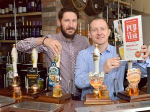 Tony Later, right and Toby Marut at The littleton Arms in St Michael's Square, Penkridge which finished Runner Up in the Express and Star's Pub of the Year Awards