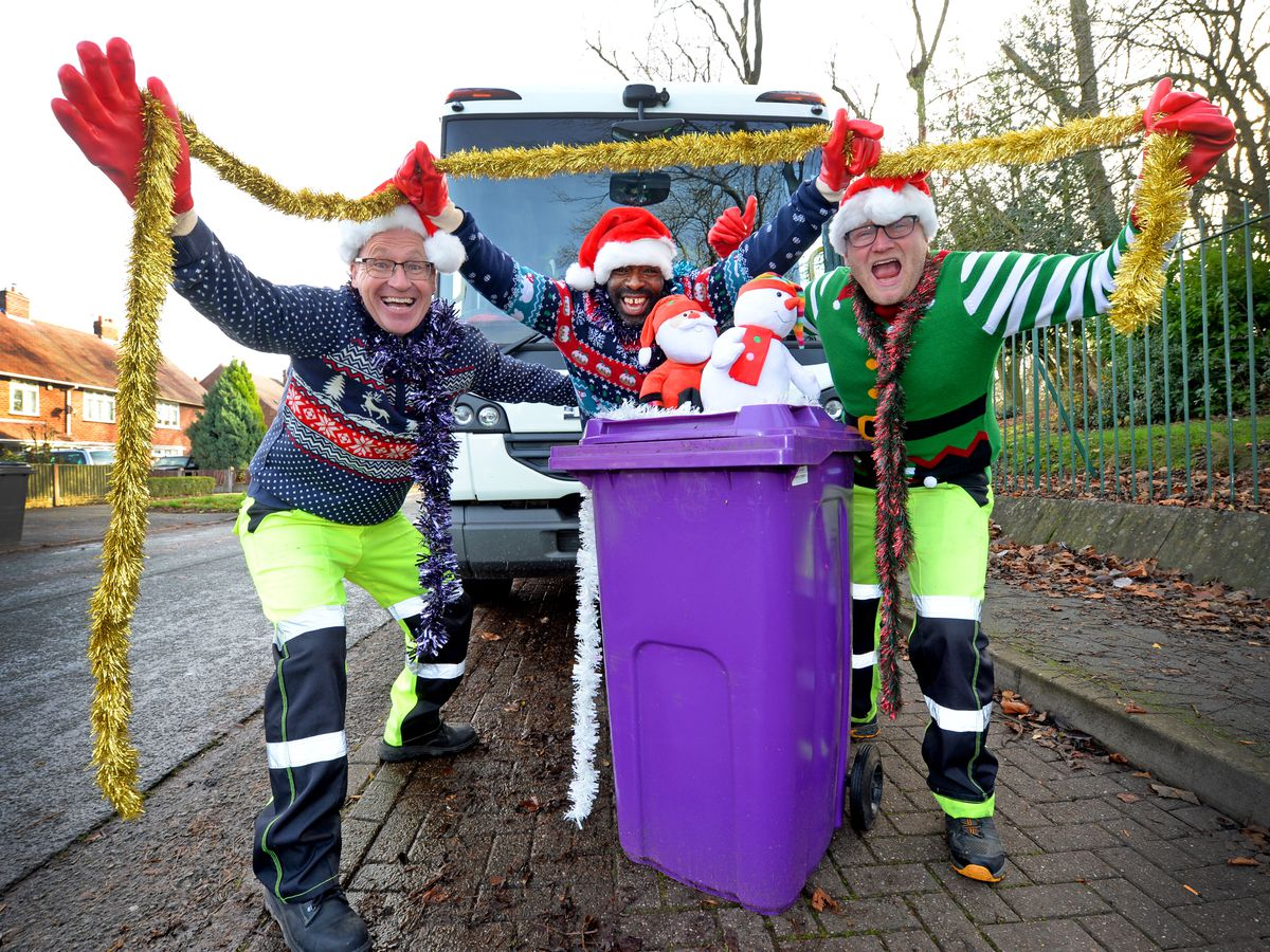 Wolverhampton's famous binmen are aiming to claim the Christmas number one.