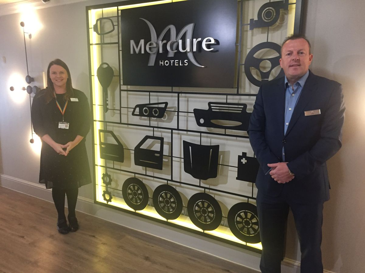 The trust's Rafaella Goodby with Garin Dart from Mercure