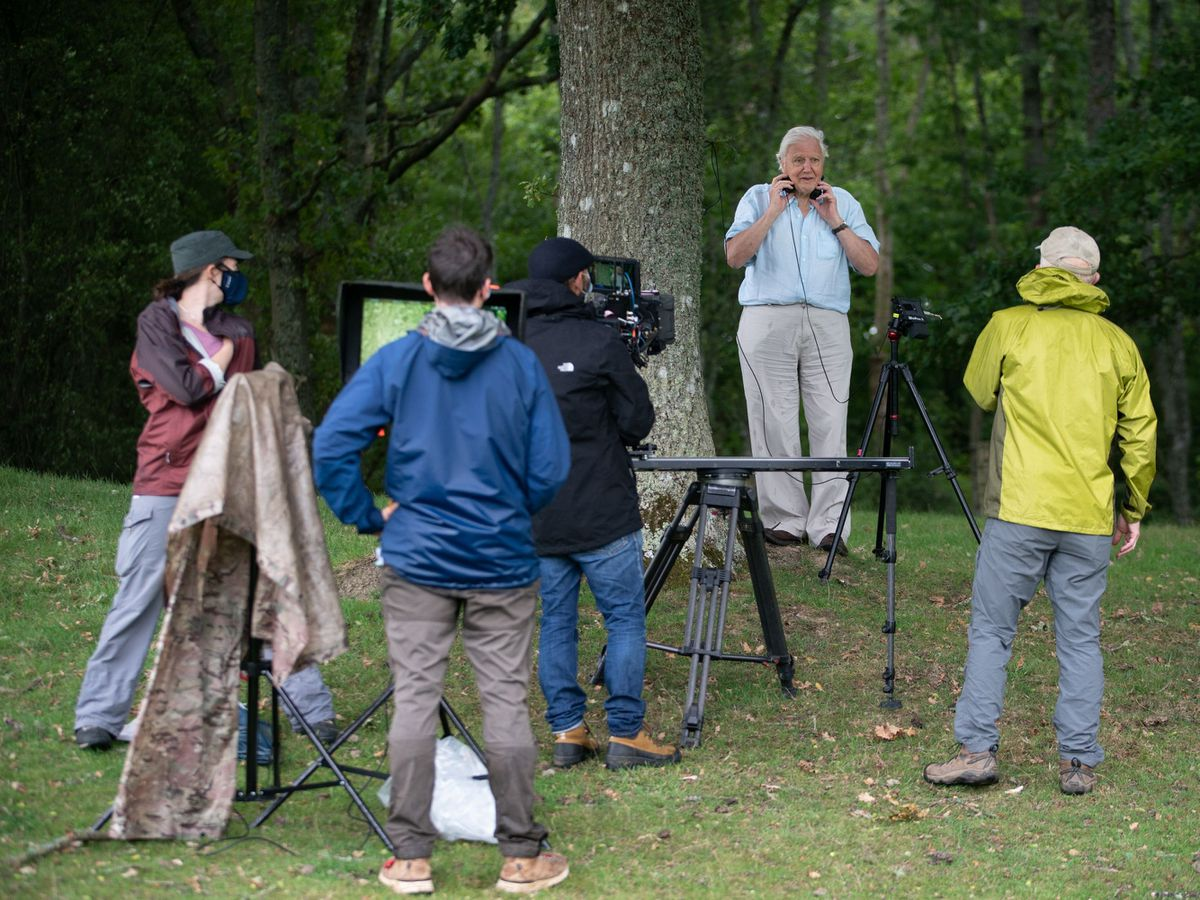 Sir David Attenborough and the BBC Studios Natural History Unit on location for the first time since March