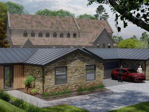 An artist's impression of how the proposed bungalows will look at St Mary the Virgin Church in Bilston. Photo: St Mary the Virgin Church