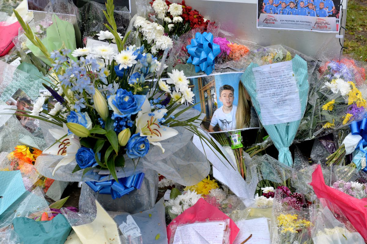 Floral tributes have been laid at the school