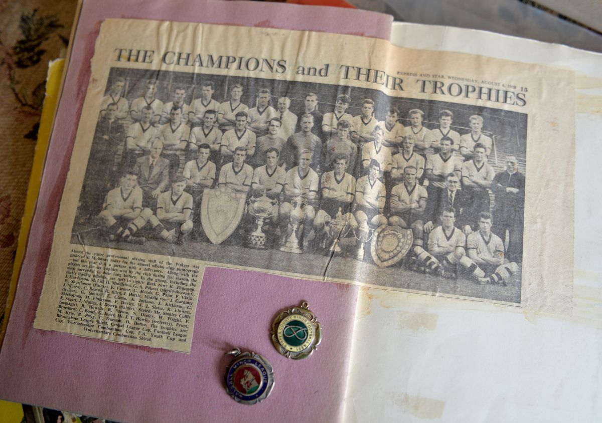Newspaper cutting that Farmer has kept from Wolves' success