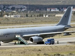 RAF aircraft lands in Argentina to join search for missing submarine