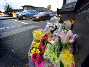 Floral tributes have been left to Jennifer Batty, after she died following a collision at the junction of Brettell Lane and Audnam, in Amblecote