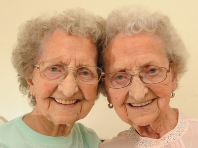 'You'd think we've dropped from space': Identical Tipton twins on finding fame aged 95