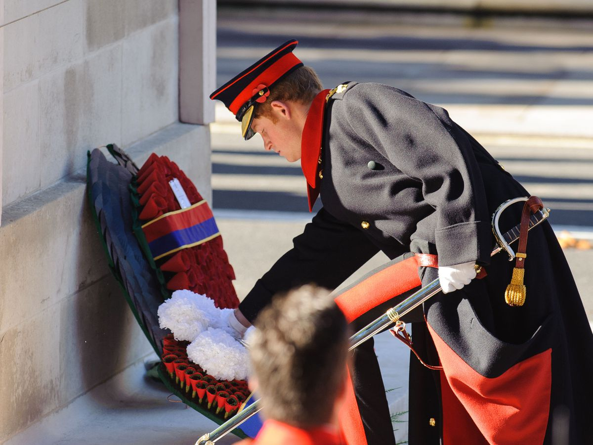 Prince Harry was not invited to lay a wreath at the cenotaph this year