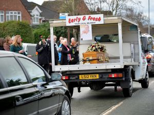 Wombourne residents line the street for milkman Kieron Moss