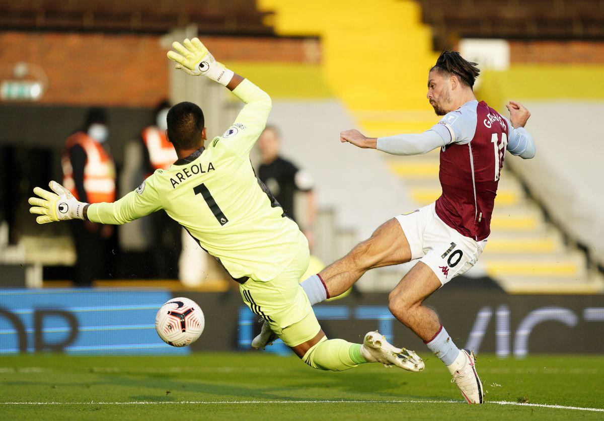 Aston Villa's Jack Grealish scores