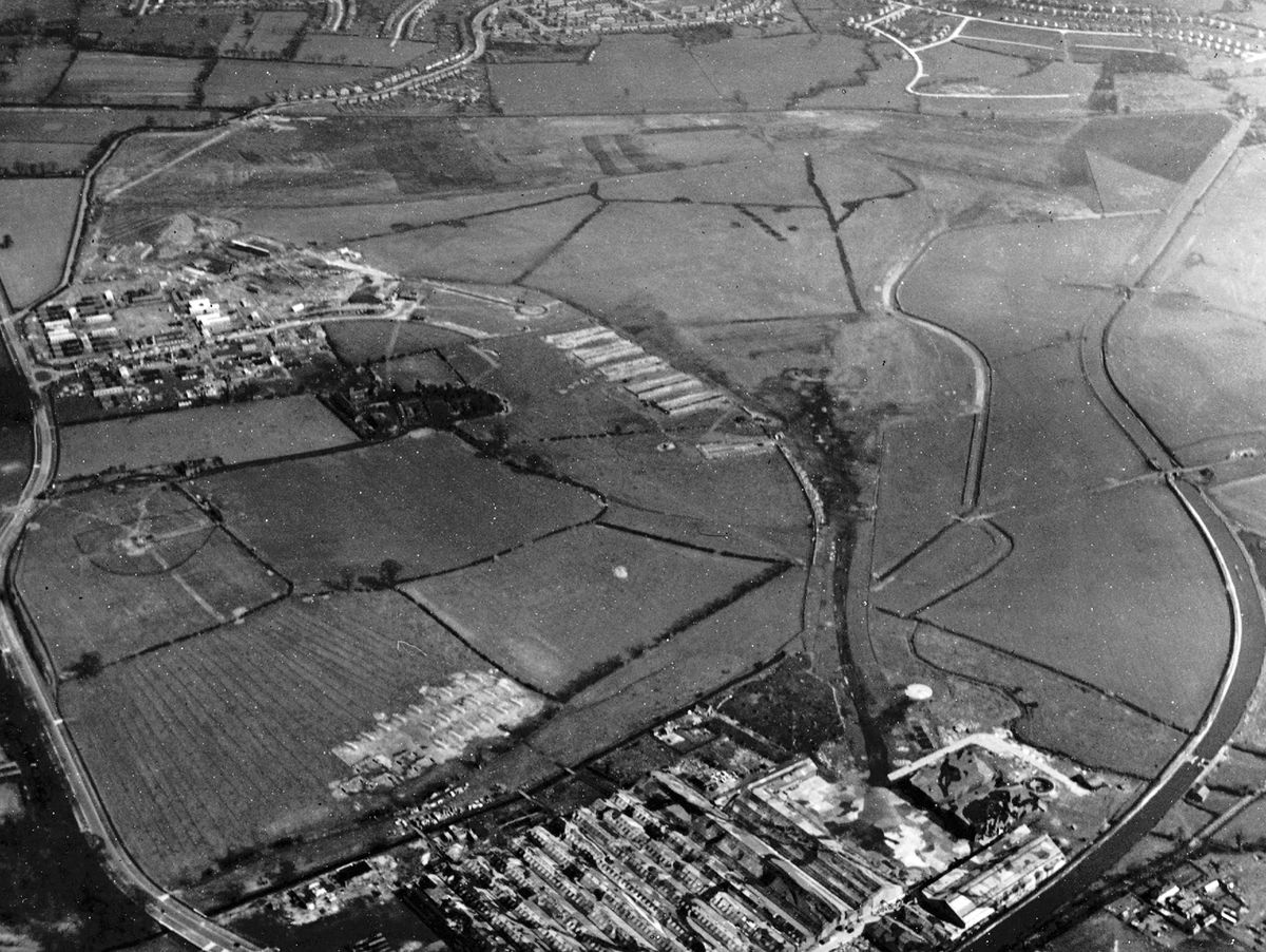 """""""Trees"""" and """"hedges"""" have been painted on to disguise wartime Pendeford airfield from any overflying enemy aircraft."""