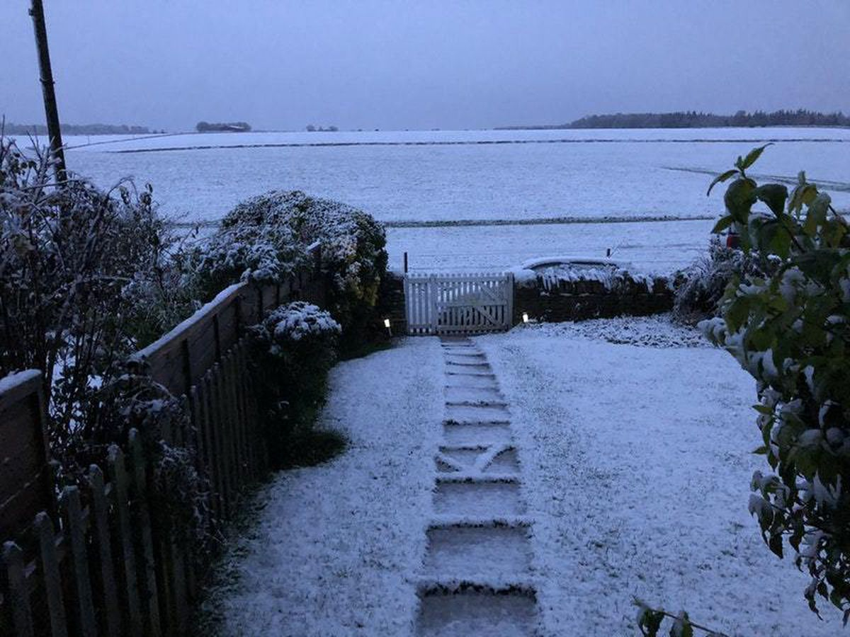 Snow near Northleach in East Gloucestershire