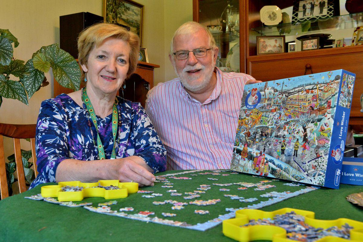 Cheryl Hayes with husband David