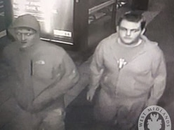 Police hoping to trace two men after Dudley memorial bench stolen