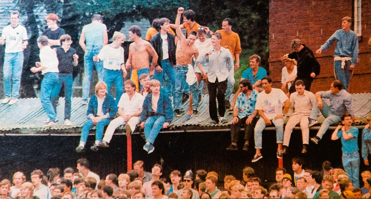 The scene on the roof before Mr Charlesworth's accident