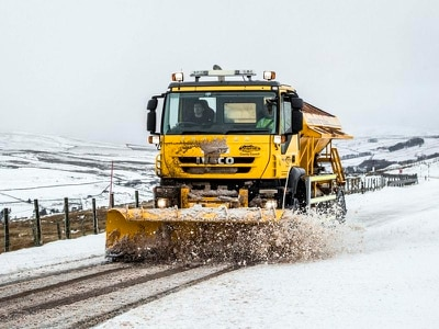 Part of motorway shut due to wintry conditions