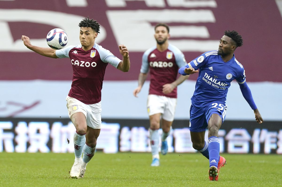 Aston Villa's Ollie Watkins (left) and Leicester City's Wilfred Ndidi