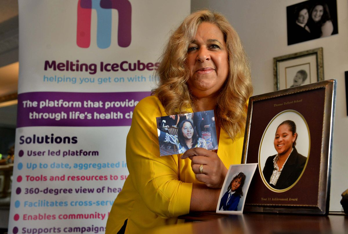 Molvia Maddox who launched online support platform Melting IceCubes Health to enable people to build knowledge and understanding of their conditions.