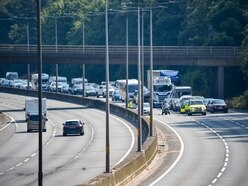 M5 shut as man trespasses on railway line over motorway