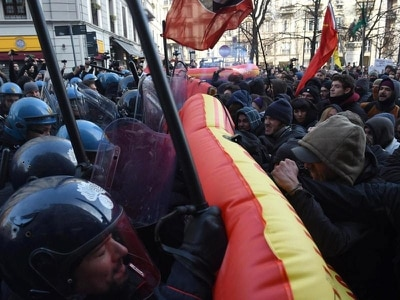 Italians stage protests in violence-marred election campaign