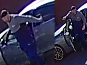 Police are looking to trace the two men captured in CCTV footage as part of their investigation into the fatal hit-and-run