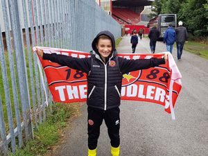 Charlie Pritchard was refused entry for not having a fire safety certificate for his flag