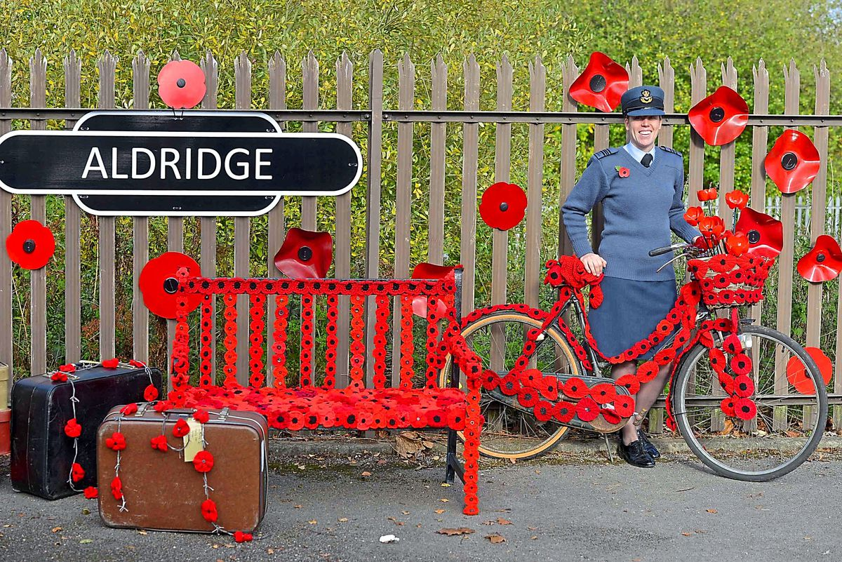 Air Cadets Flight Lieutenant Laura Horobin at Aldridge Station, where soldiers would leave for war