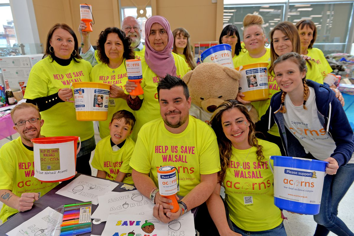 Staff at Tesco Extra raised money for Acorns