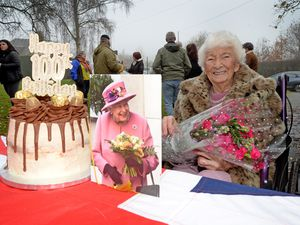 WALSALL COPYRIGHT EXPRESS&STAR TIM THURSFIELD-28/11/20.Ethel Lote, from Broad Meadow, Aldridge, celebrates her 100th birthday..