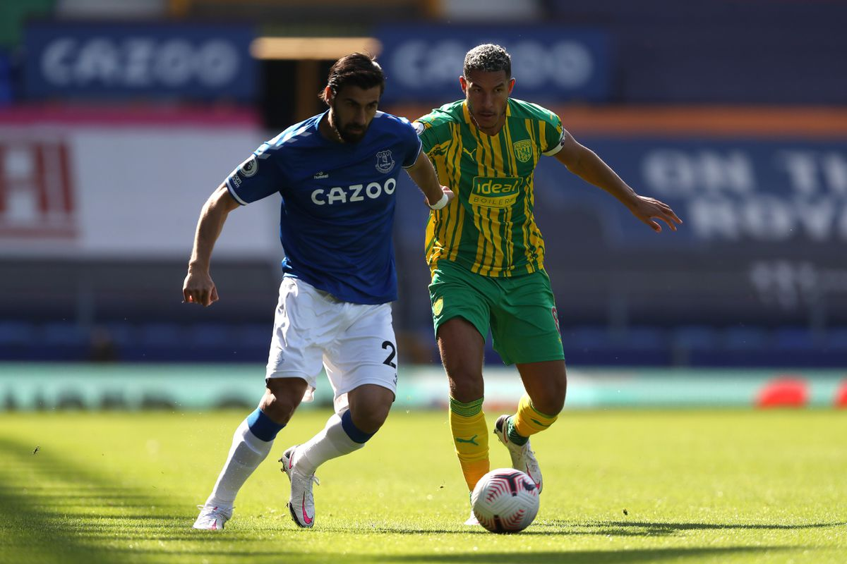 Andre Gomes of Everton and Jake Livermore of West Bromwich Albion (AMA)