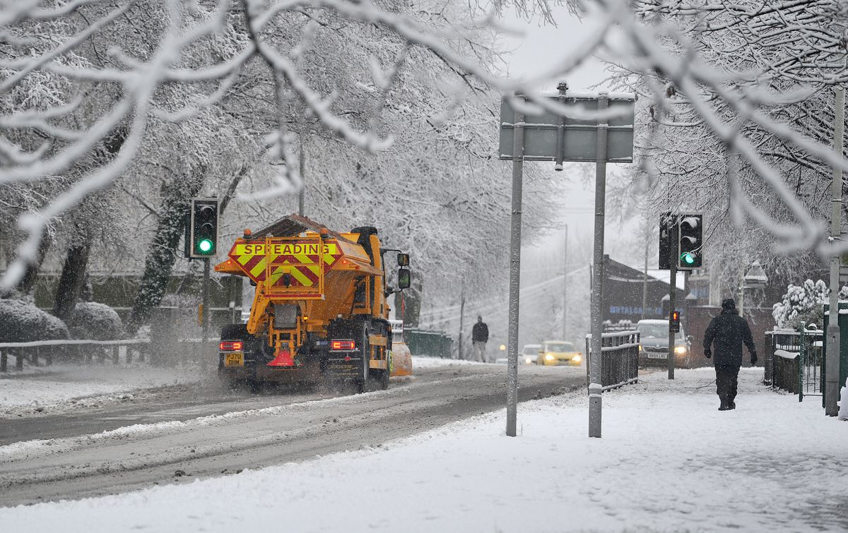 The gritters were out in Bilston