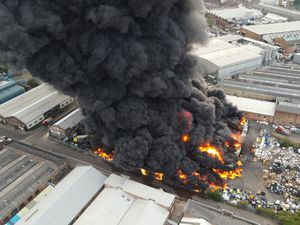 An aerial view of the fire in Tylseley, Birmingham. Photo: @_Guesti