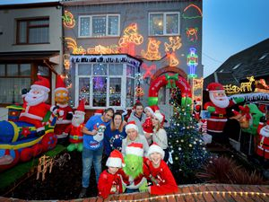 The Smith and Freeman family have moved onto Gorsebrook Road, Wolverhampton, this year and wanted to bring a bit of Christmas sparkle to the street, and their neighbours