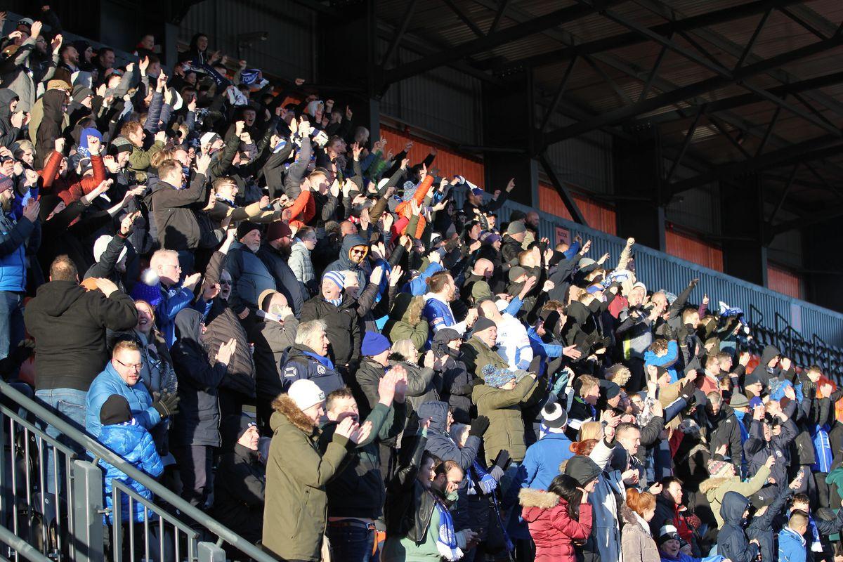 Halesowen Town fans. (Photo: Steve Evans)