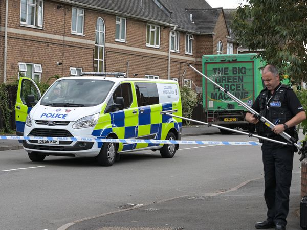 Police at the scene in Nechells Park Road, Birmingham. Photo: SnapperSK