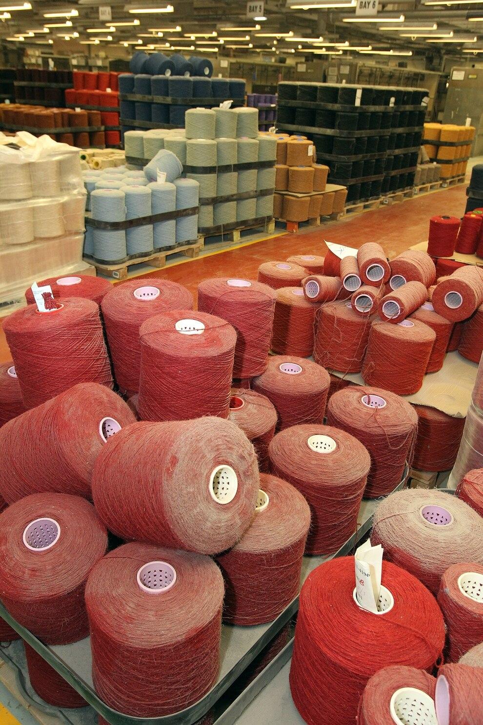 Kreals Of Yarn At Brintons Carpets Factory In Kidderminster