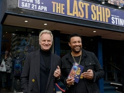 Sting and Shaggy at Birmingham's New Alexandra Theatre for opening night of The Last Ship - in pictures and video