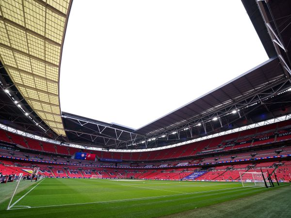 The pitch at Wembley Stadium