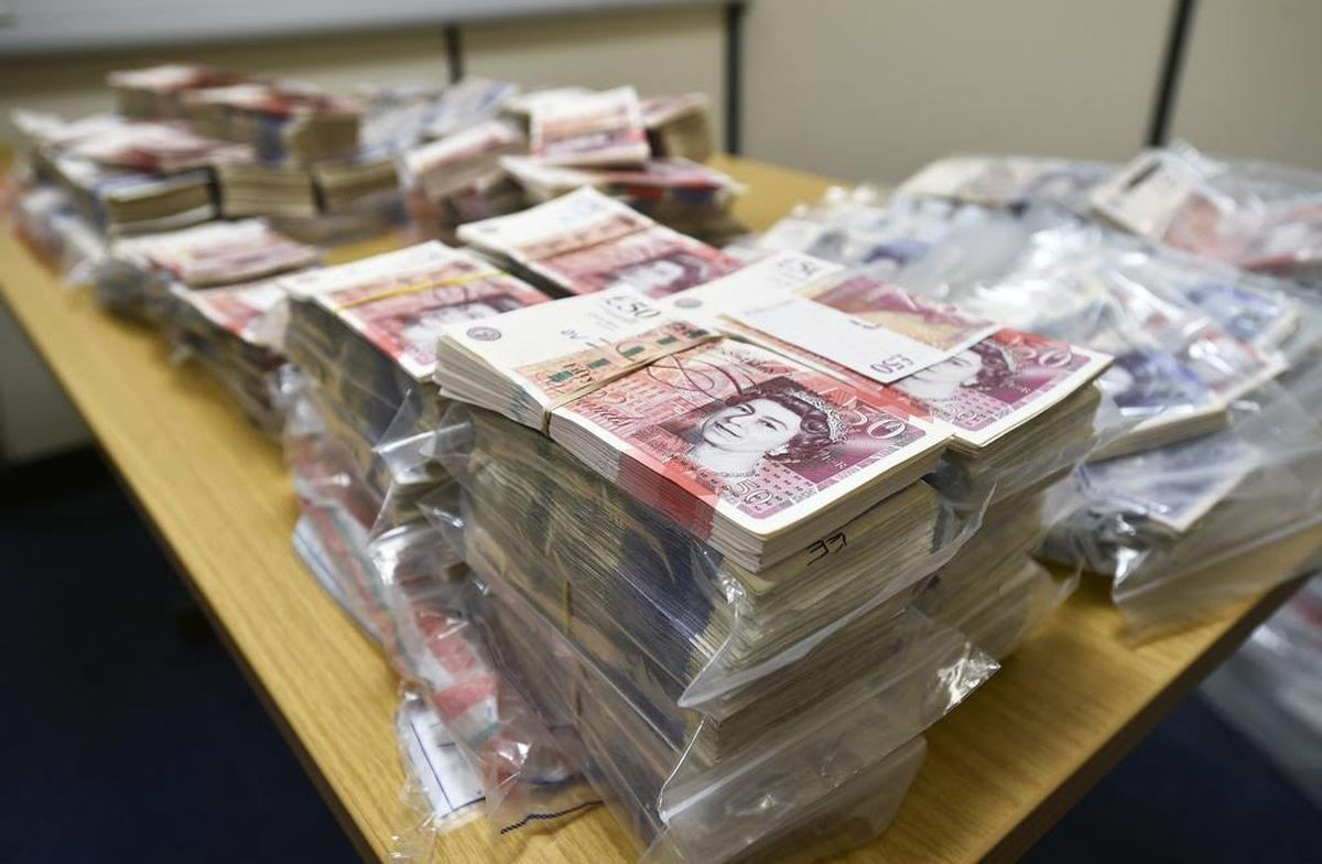 More images of the seized cash