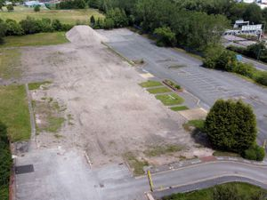 Drone footage shows an empty site with no current plans for what to do with it