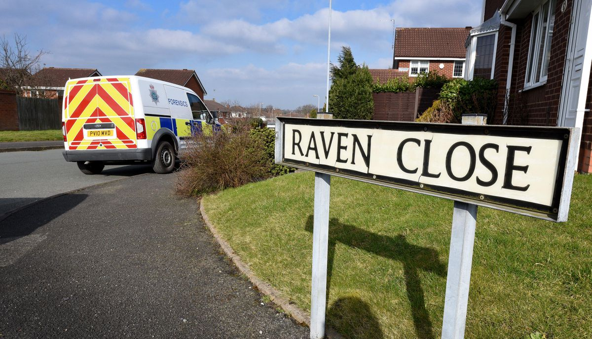 Police in Raven Close, Huntington, after Dennis Eccleston died