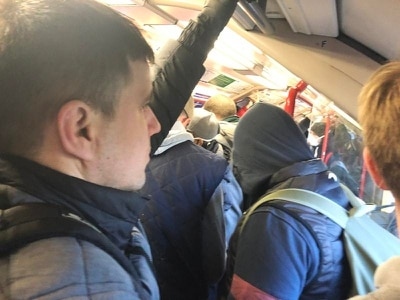 Tube carriages packed despite plea for only 'essential' travel