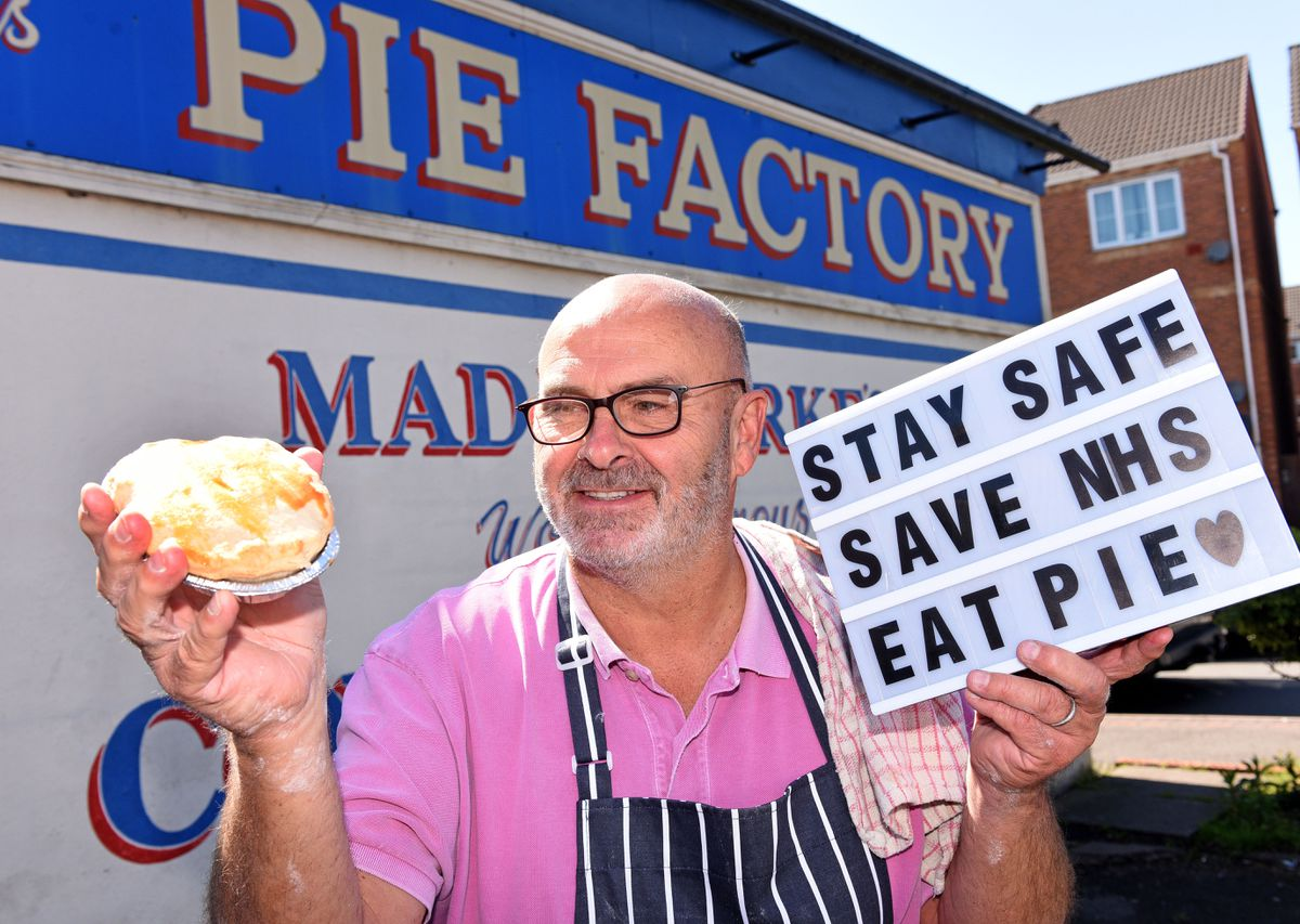 Pete Towler, owner of Mad O'Rourke's Pie Factory, Tipton