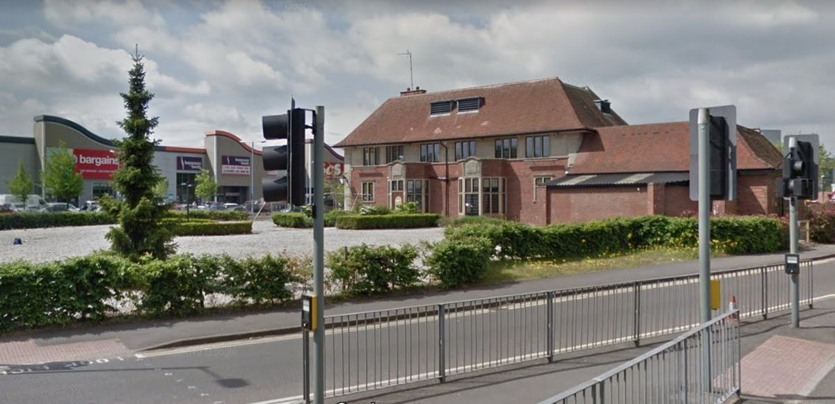 A Google Street View image from 2019 of the site now occupied by the car showroom seen from Lichfield Road Stafford.